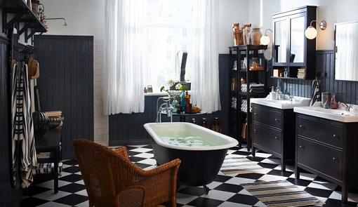 Baño Ikea clásico