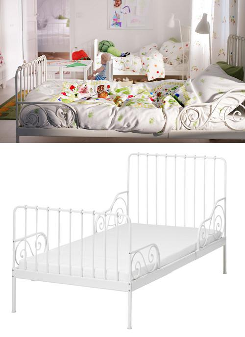 Decoracion mueble sofa cama forja blanca ikea for Camas infantiles ikea