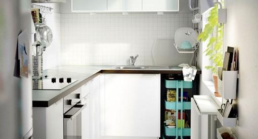 Cocina pequeña blanca Ikea