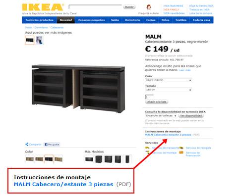 Instrucciones montar muebles ikea mueblesueco for Muebles para montar