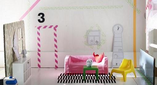 muebles de ikea en escala para decorar casas de juguete