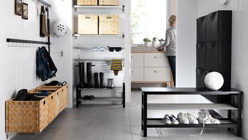 Seguimos con la dinámica Ikea para recibidores modernos: zapatero ...