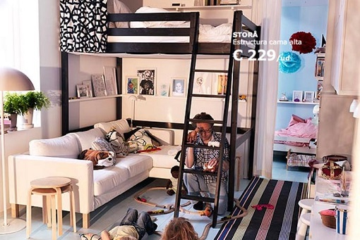 Trucos para aprovechar y ahorrar espacio en un mini - Ikea cama alta ...