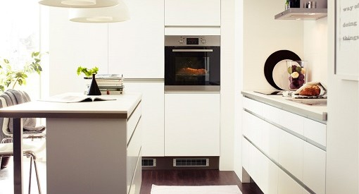 Cocina blanca de Ikea