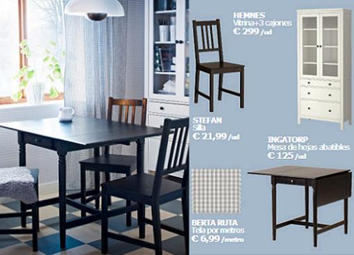 Nuevas sillas y mesas de ikea para comedores mueblesueco - Mesas para comedores pequenos ...