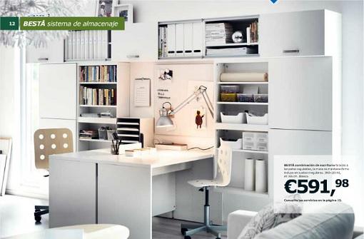 Ideas muebles salon salon con muebles blancos pintado y decorado en blanco cocina y saln de - Muebles oficina ikea ...