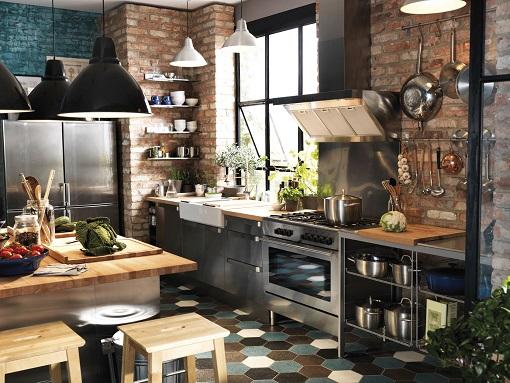 Cocinas Ikea de estilo industrial - mueblesueco