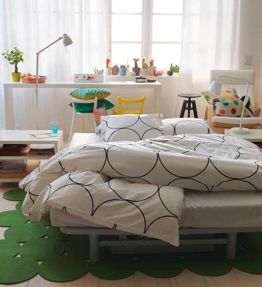 Dormitorio Ikea estilo nórdico