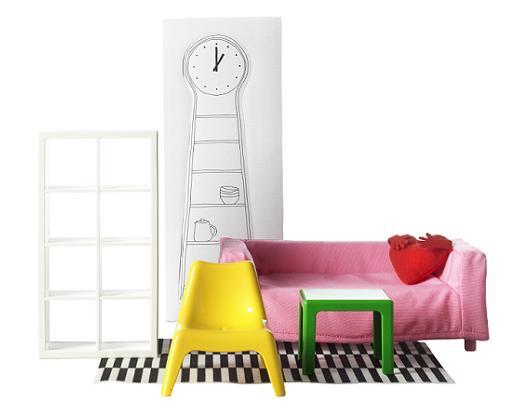 ikea huset: mobiliario muñecas salón