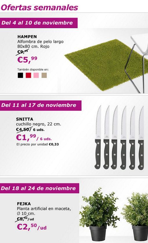 ofertas de ikea noviembre 2013