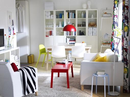 Salon Ikea estilo nórdico