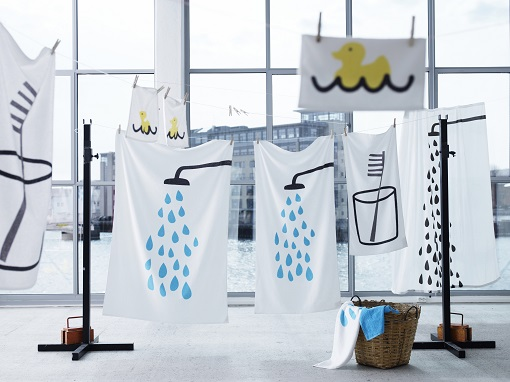 Textiles baño Ikea 2013