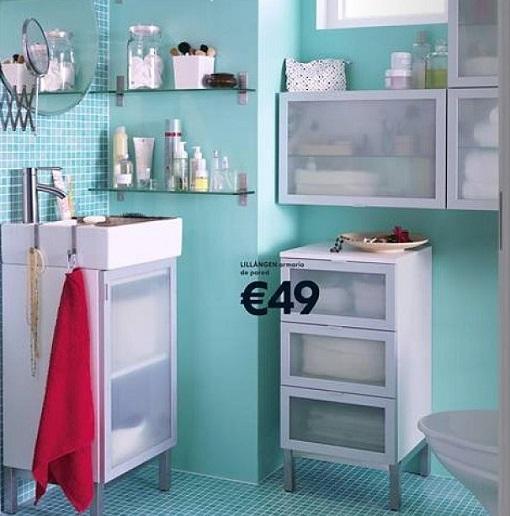 Armarios De Baño Pequenos: para poner armaritos de pared y baldas así multiplicas el espacio de