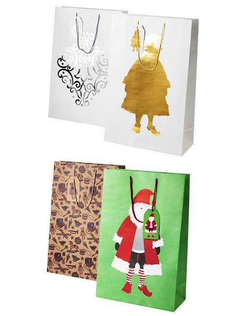 Cajas y bolsas de regalo para Navidad Ikea