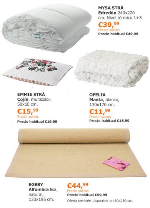 ofertas ikea diciembre 2013 textiles