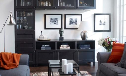 Decoracion mueble sofa ikea mueble salon - Salones con muebles oscuros ...