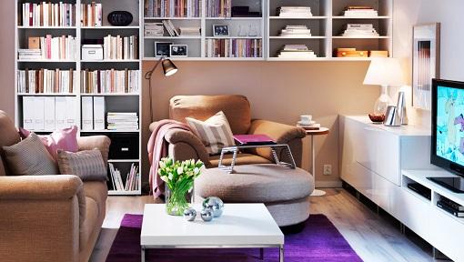 Salón pequeño de Ikea