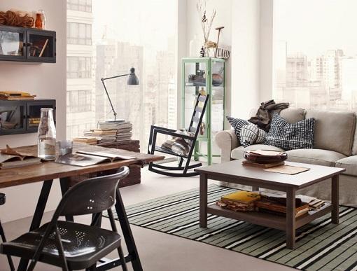 Decorar Salon Ikea ~ Un ejemplo tambi?n de sal?n ecl?ctico , con colores tropicales