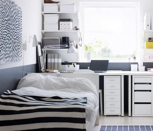 Dormitorios juvenil moderno en gris y naranja - Como pintar dormitorio juvenil ...