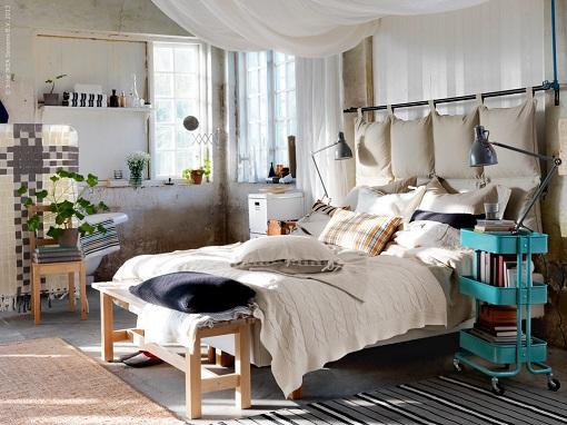Dormitorio rustico original mueblesueco for Dormitorios rusticos ikea