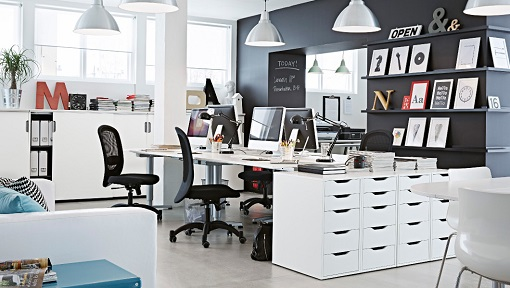 Muebles de oficina Ikea para decorar el espacio de trabajo - mueblesueco