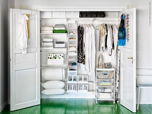 Vestidor en armario