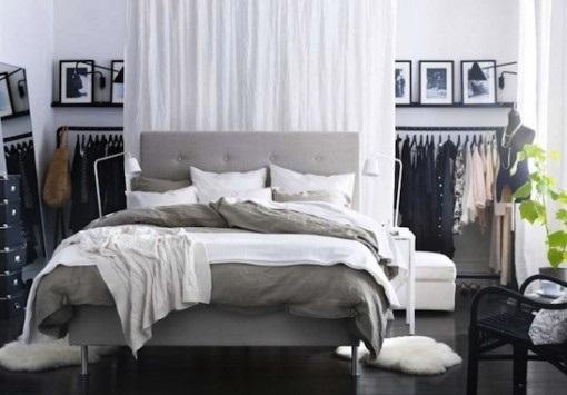 Vestidor en dormitorio