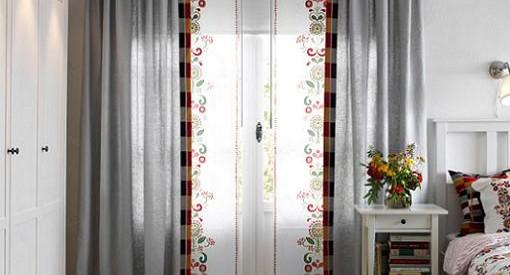 cortinas y paneles japoneses de ikea para ventanas