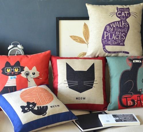Colección de cojines de gatos