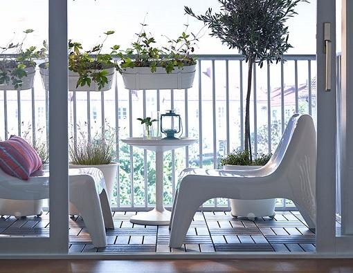 Decorar el balcón con Ikea