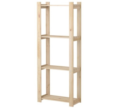 estanterías de madera ikea