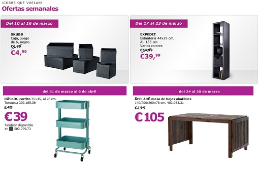 Ofertas semanales Ikea marzo
