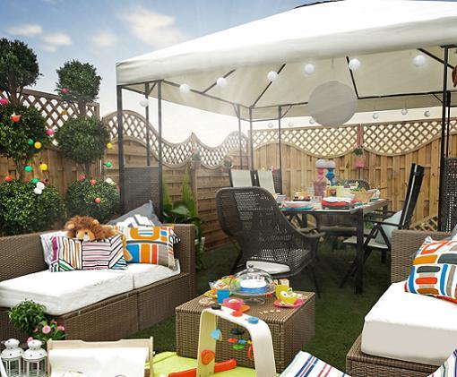 Sombrillas y cenadores de Ikea para tu terraza y jardín