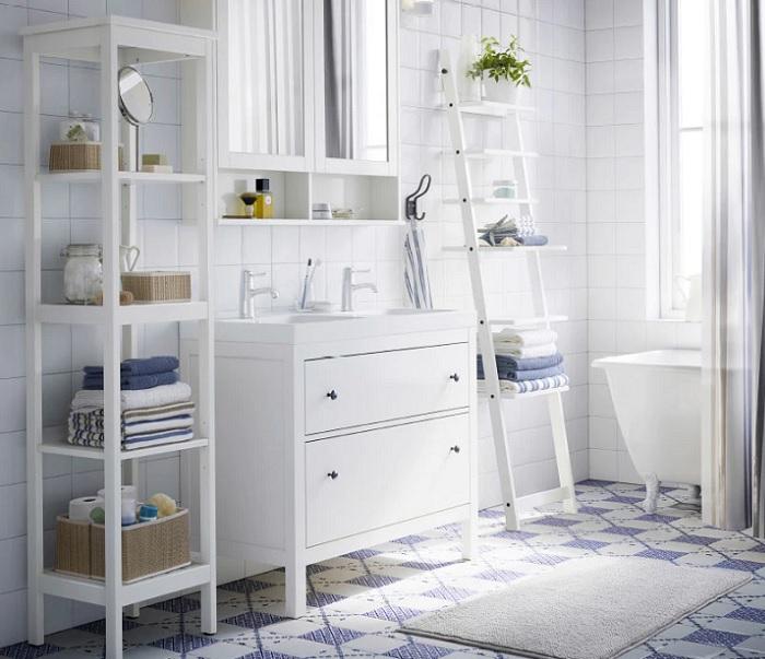 armarios estanterias baño ikea HEMNES