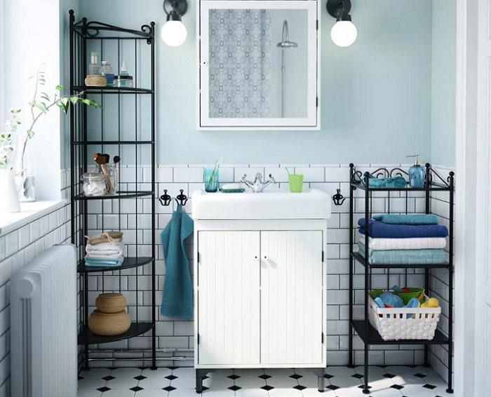 armarios estanterias baño ikea RÖNNSKÄR