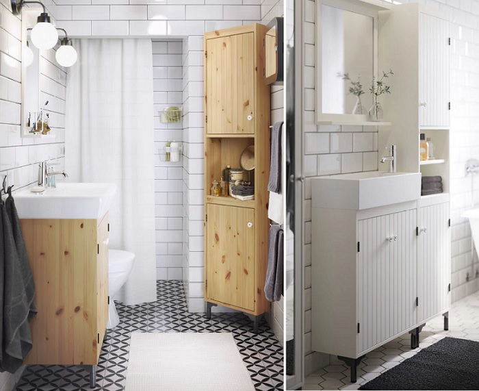 armarios estanterias baño ikea SILVERÅN