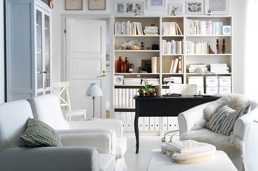 10 estanteras blancas de Ikea para mantener tu saln en orden