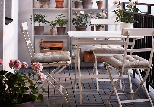 Las mejores sillas y mesas de jardín Ikea para tu terraza