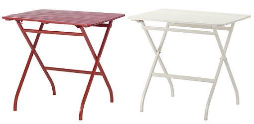 mesas de terraza ikea plegables
