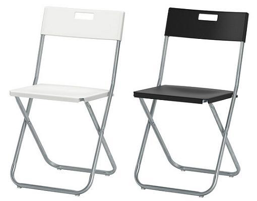Sillas plegables y baratas de Ikea para la cocina - mueblesueco