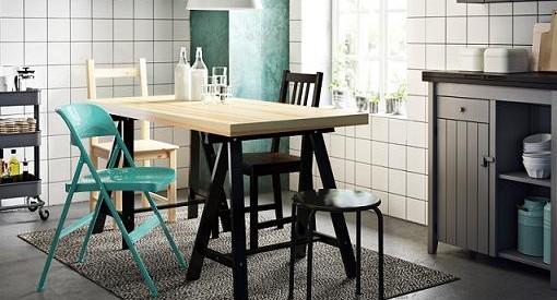 Sillas plegables y baratas de Ikea para la cocina