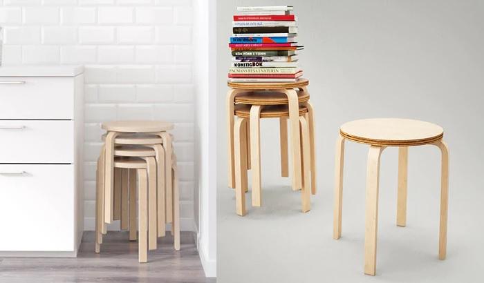 taburetes de ikea FROSTA madera