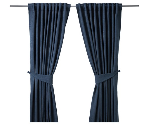 cortinas azules ikea