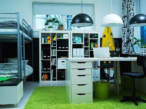 Habitacion juvenil para dos mueblesueco for Decoracion habitacion juvenil ikea