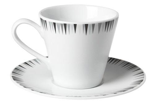 matsedel taza de cafe con platillo