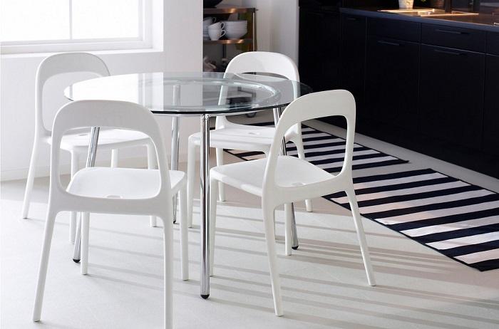 Mesas redondas de ikea para el comedor extensibles de - Mesas de cristal ikea ...