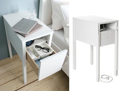 Ikea nordli mesita de noche mueblesueco for Mesillas de noche 30 cm