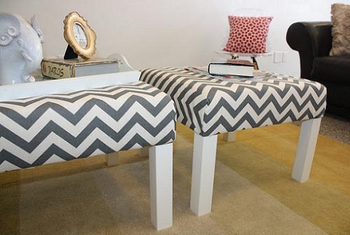 mesa lack tapizada