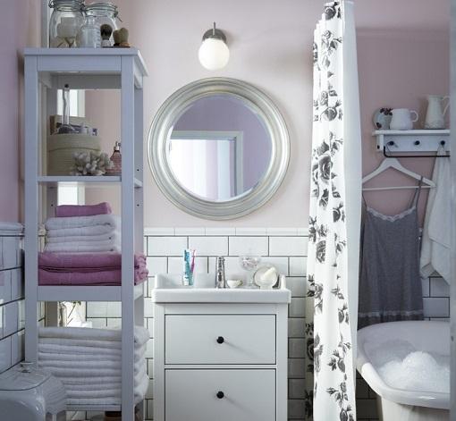 Lamparas Baño Vintage:Baños Ikea con un toque vintage: inspiración retro – mueblesueco