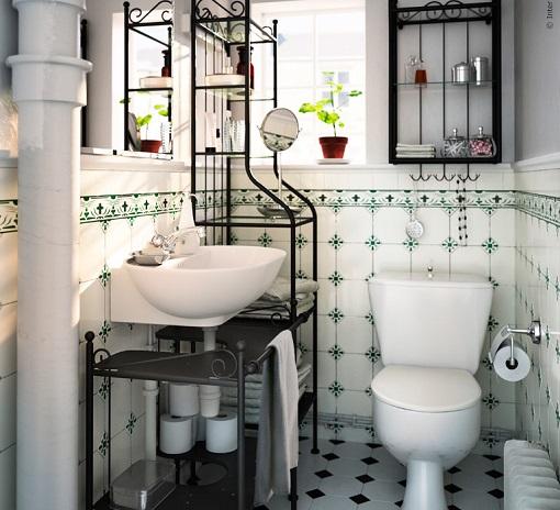 Decoracion Baños Estilo Vintage:Baños Ikea con un toque vintage: inspiración retro – mueblesueco
